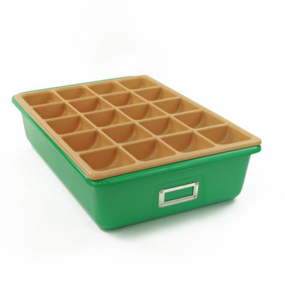 Storage Trays green and compartment